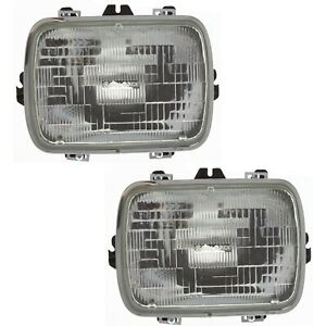 Headlight For 96 2017 Chevrolet Express 3500 Pair Driver And Passenger Side