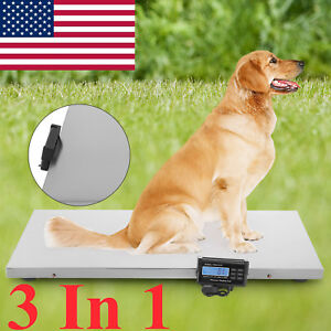3in1 Digital Pet Scale Digital Large Dog Cat Animal Weight Veterinary Diet