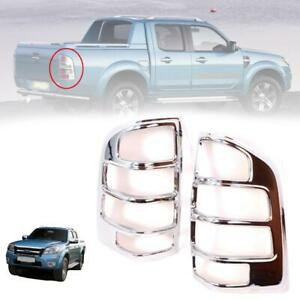 For 2006 2008 Ford Ranger Pj Pickup Tail Lamp Cover Chrome Trim Pair