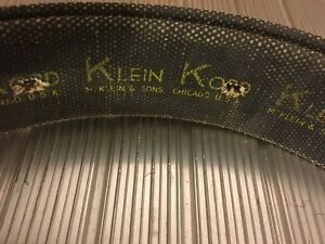 Vintage Lineman s Pole Climbing Klein Kord Belt Green Brown Leather