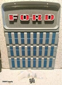 Ford Tractor Front Grill Set With Mounting Hardware 2000 3000 4000 3400 2300