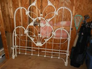 Antique Iron Bed Full Fancy With Rails