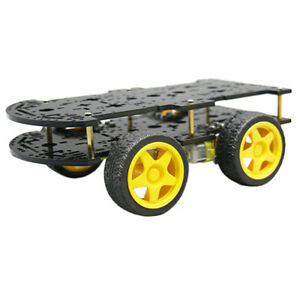 New 4wd Robot Smart Car Kit Chassis Mobile Platform 4 Drive Wheels Gift