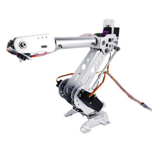 Metal 6 dof Arm Mechanical Robotic Arm Clamp Claw Mount Kit With Servos