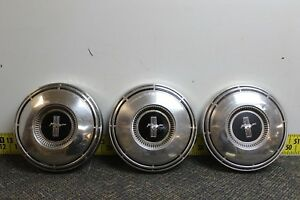 Ford Oem Set Of 3 Dog Dish Center Hub Caps 1968 1969 Mustang Fastback Svm37