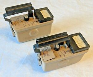 lot Of 2 Ludlum Model 17 1 Ion Chamber Geiger Counter Radiation Survey Meter