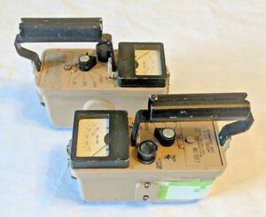 Ludlum Model 17 1 Ion Chamber Geiger Counter Radiation Survey Meter lot Of 2