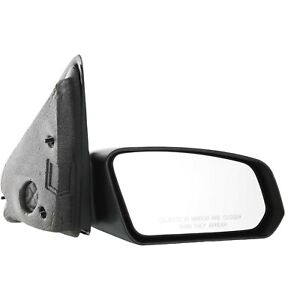 Manual Mirror For 2003 2007 Saturn Ion Passenger Side Heated Textured Black