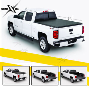 Fits Chevy Colorado Gmc Canyon 5ft Bed Aluminum Lock Hard Tri Fold Tonneau Cover