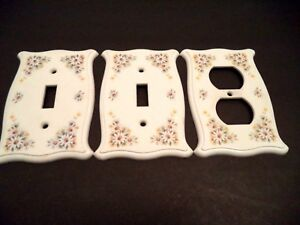 Switch Plate Covers Holton Daisy 70s Vtg 1 Single Toggle 2 Duplex Outlet White