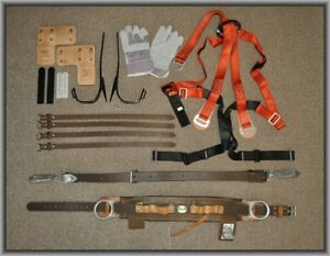 New Buckingham Tree Pole Lineman Safety Climbing Gear Belt Strap Spikes Harness