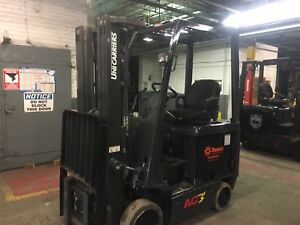 2014 Nissan 3000 Lb Electric Forklift Triple Mast With Side Shift