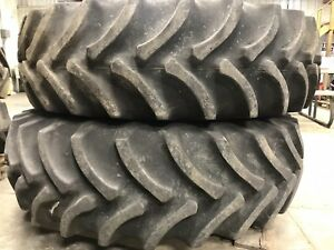 John Deere 4850 8520 Mfd Rims Tires One Pair Of 14 9x30 380 85r30