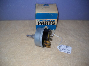 Nos Mopar 1966 Dart Valiant Barracuda Variable Speed Wiper Switch Rare