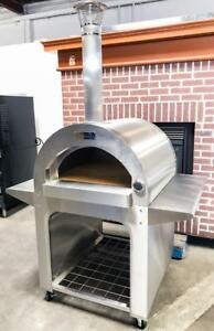 New Brunello Bianco Bakery Restaurant Equipment Portable Wood Fired Pizza Oven