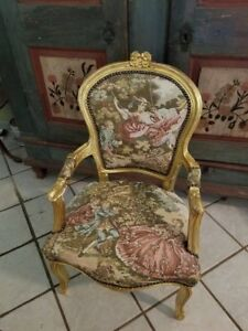 Needle Point Antique French Arm Chair