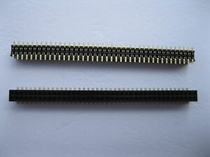 200 Pcs Smd Smt 1 27mm 2x40 80pin Female Pin Header Double Row Strip Gold Plated