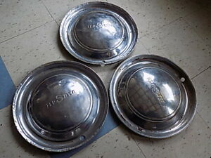 3 Vintage Desoto Wheel Covers Hubcaps Found In Trunk Of 57 Desoto Project Ratrod
