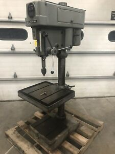 Clausing 20 Drill Press 2234 Mt3 Jacobs Chuck 20 x22 Table 1 5hp Step Pulley