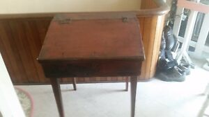 Antique Primitive School Desk