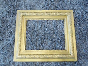 Vintage Ornate Wood Gold Gilt Gesso Picture Frame 26 1 2 X 30 1 2 Fits 16 X 20