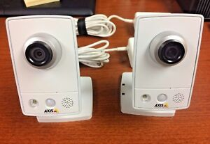 Lot Of 2 Axis Communications M1054 Surveillance Fixed Network Camera Poe