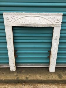 Vintage Fireplace Cast Iron Surround Cover