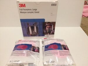 3m 6900 Full Face Piece Large Reusable Respirator With P100 Filters
