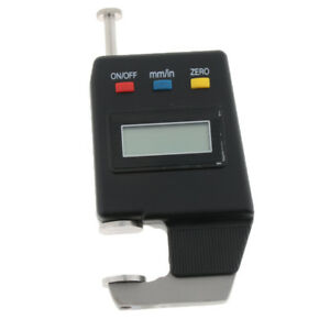 Electronic Dial Indicator Thickness 0 01mm Digital Thickness Gauge Black