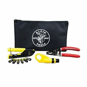 Coax Installation Kit With F Connectors Cable Cutter Compression Tool
