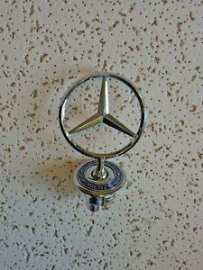 New Mercedes Benz Hood Emblem Badge Star Stand Up Front Logo 140 Free Shipping