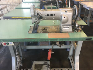 Industrial Sewing Machine Juki Lu 562 Walking Foot Leather on Stand
