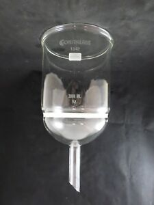 Chemglass Glass 3000ml 3l 125mm Diam Medium Frit Buchner Filter Funnel Cg 1402