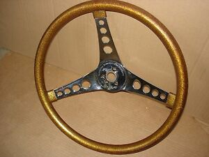 The 500 Superior Performance Gold Metal Flake 14 5 Vintage Steering Wheel Rod