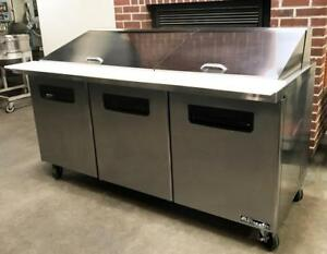 Blue Air Bamt72 Bakery Restaurant Equipment 72 Sandwich Prep Table Refrigerator