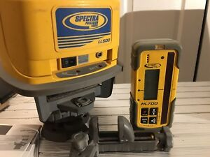 Spectra Precision Ll500 Laser Level W Hl700 Receiver Tripod Case And Extras