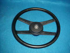 70 81 Chevy Black 4 Bar Sport Steering Wheel Camaro Chevelle Nova Spoke