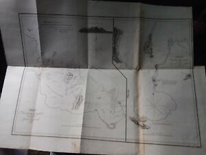 1810 Henry Salt Expedition Maritime Nautical Chart Ammesley Bay Ethiopia
