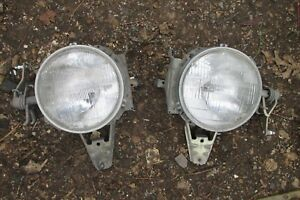 Porsche 944 924 Both Headlights Left And Right Oem Factory