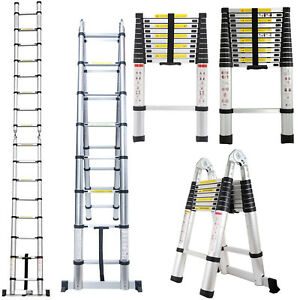 Aluminum Multi purpose Extention Ladder Folding Telescopic Steps Scaffolding New