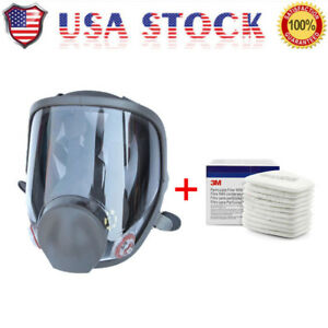 Us Full Face Gas Mask Painting Spraying Respirator For 6800 Facepiece Large Size