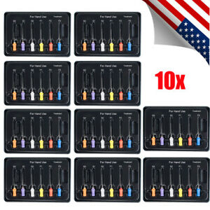 10pack Usa Dental Endodontic Niti Rotary Files For Hand Use Endo Root Canal Tool