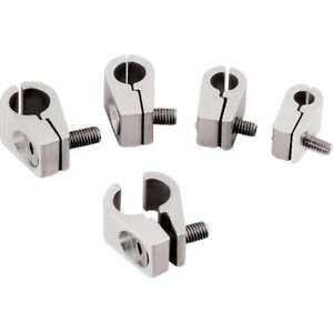 Billet Specialties 1 4 In Id Polished Line Mounting Clamp P N 65210