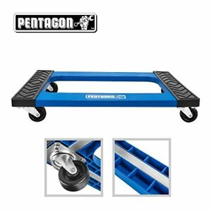 Pentagon Tool Mover Dolly Furniture Appliances Heavy Items Blue