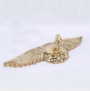 Gold 3d Horse Car Wing Front Cover Metal Hood Ornament Bonnet Emblems Badges