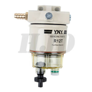New 10micron 15 Gph R12t 120at For Marine Spin On Fuel Filter Water Separator