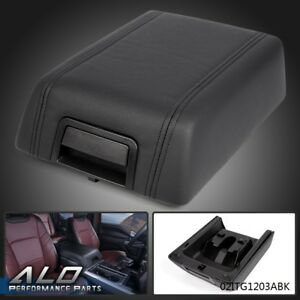 Oem Center Console Arm Rest Lid Cover Pad Black Leather For 2004 2008 Ford F 150