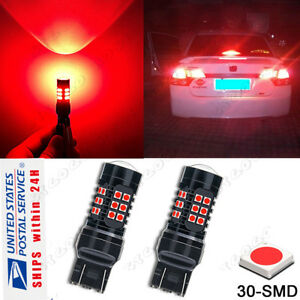 2pcs Set 30 Led Flashing Red Replacement Bulbs For Honda Civic Brake Tail Lights
