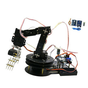 5 Axis Metal Robot Robotic Mechanical Gripper Arm Kit W Servo For Arduino