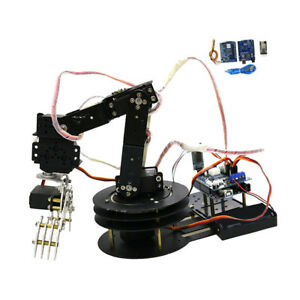 5 Axis Metal Robot Robotic Clamp Gripper Arm Kit W mg 996r Servo For Arduino